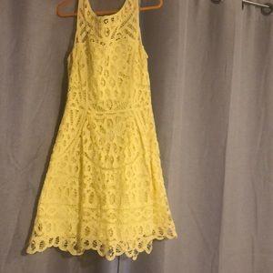 Lily Pulitzer yellow lace dress